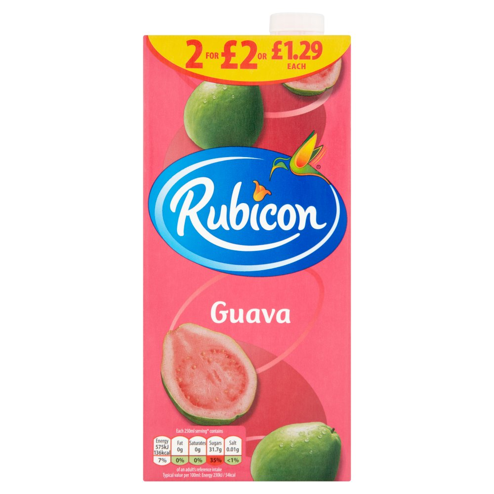Rubicon Still Guava Juice Drink 1L Cartons £1/2 £2