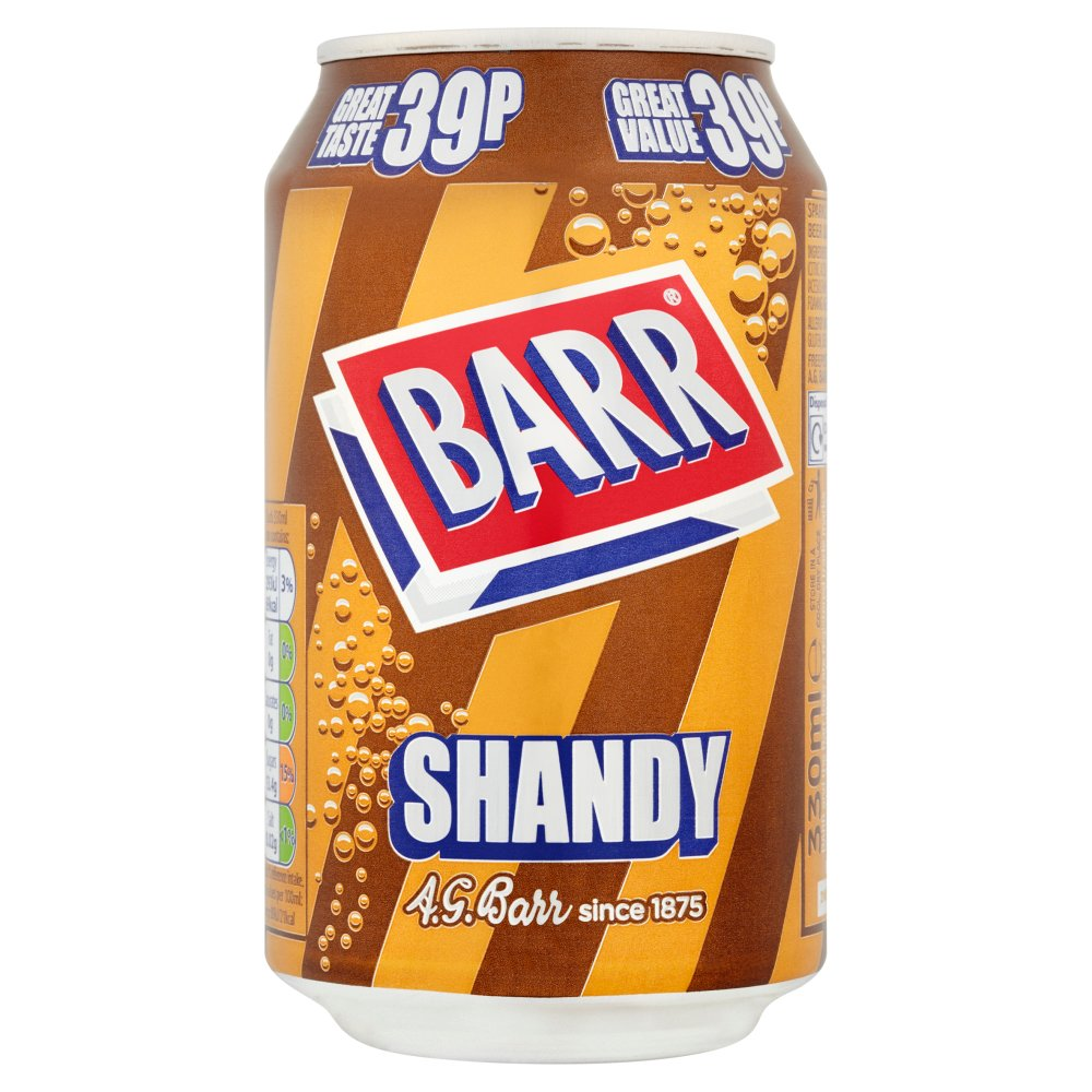 Barr Shandy 330ml Cans PMP 39p