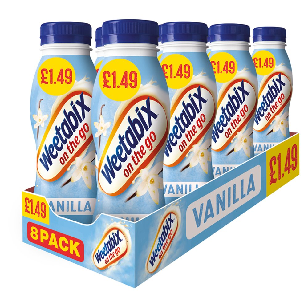 Weetabix On The Go Vanilla Breakfast Drinks Case 8 x 250ml PMP £1.49