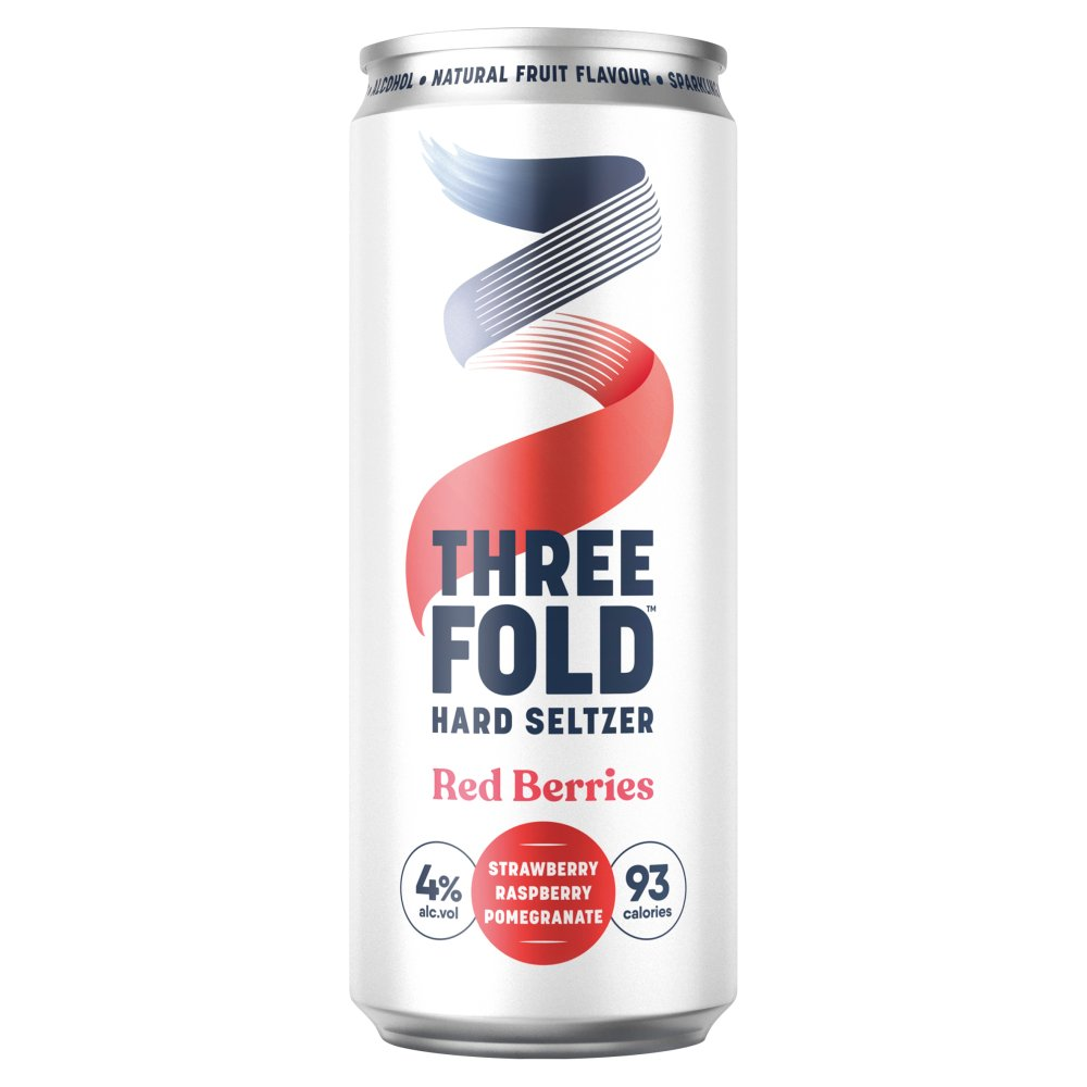 Three Fold Hard Seltzer Red Berries 330ml