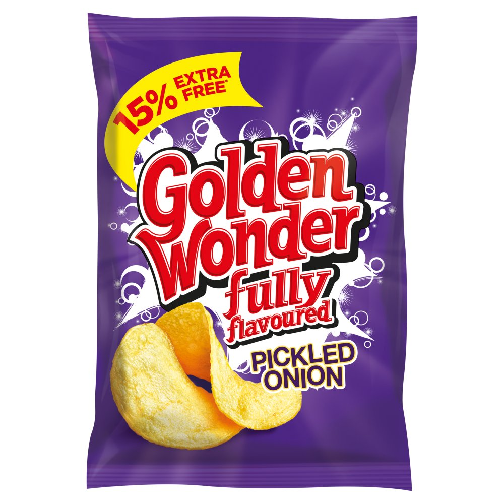 Golden Wonder Crisp Pickled Onion 15percent Extra