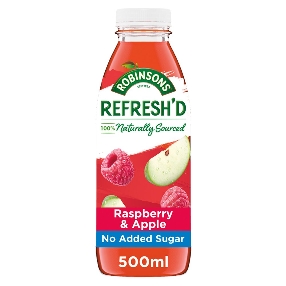 Robinsons Refresh'd Raspberry & Apple Spring Water with Real