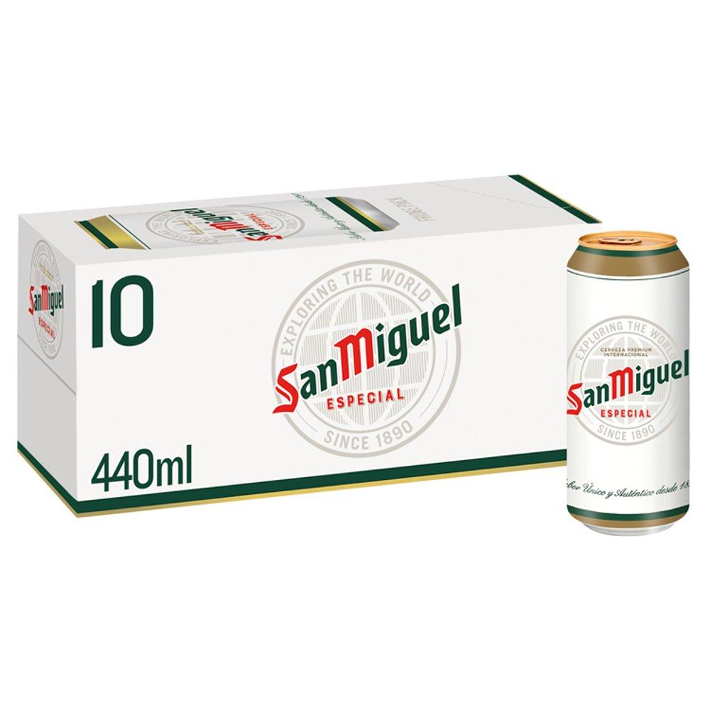 San Miguel Premium Especial Original Lager Beer 10 x 440ml