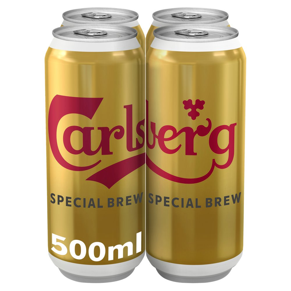 Carlsberg Special Brew Lager 4 x 500ml Cans