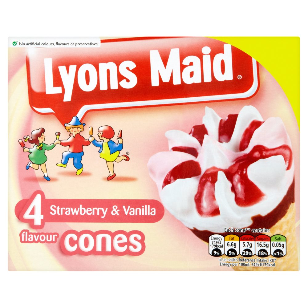L Maid Strawberry Cones £1.25
