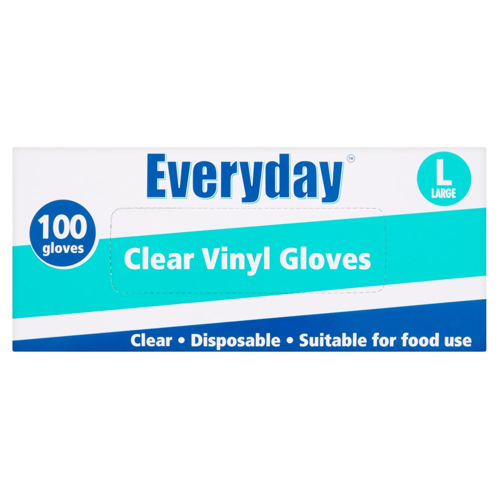 Everyday Clear Vinyl Gloves Large Size