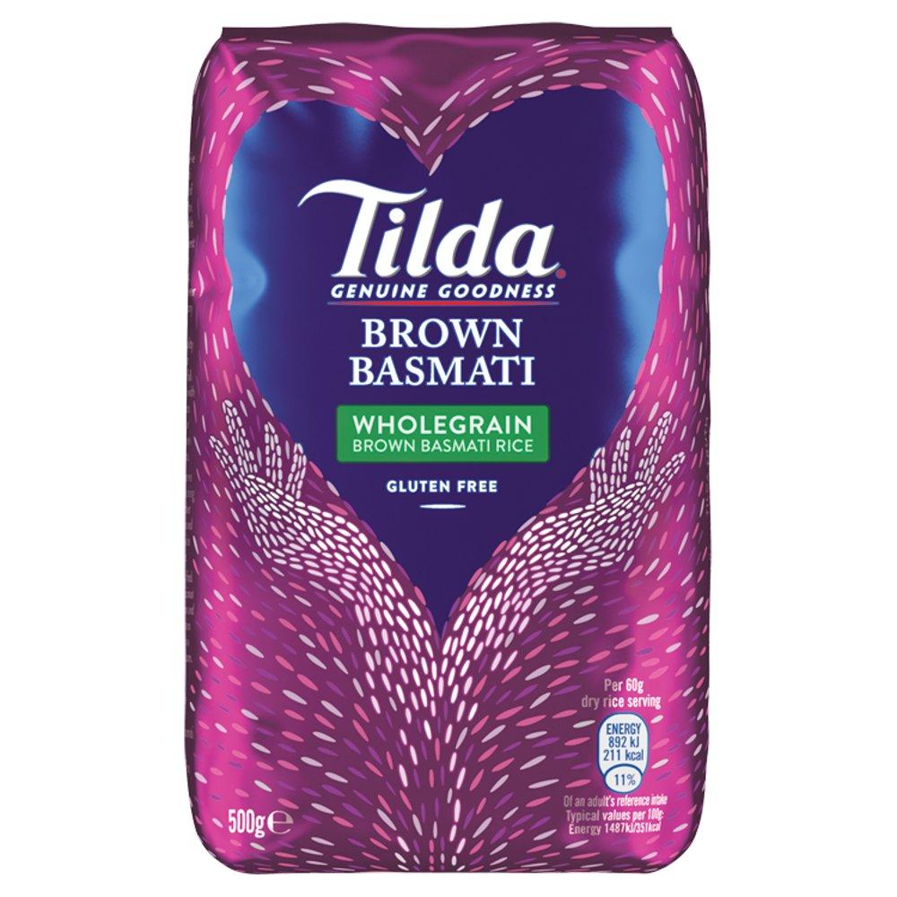 Tilda Brown Basmati Rice 500g