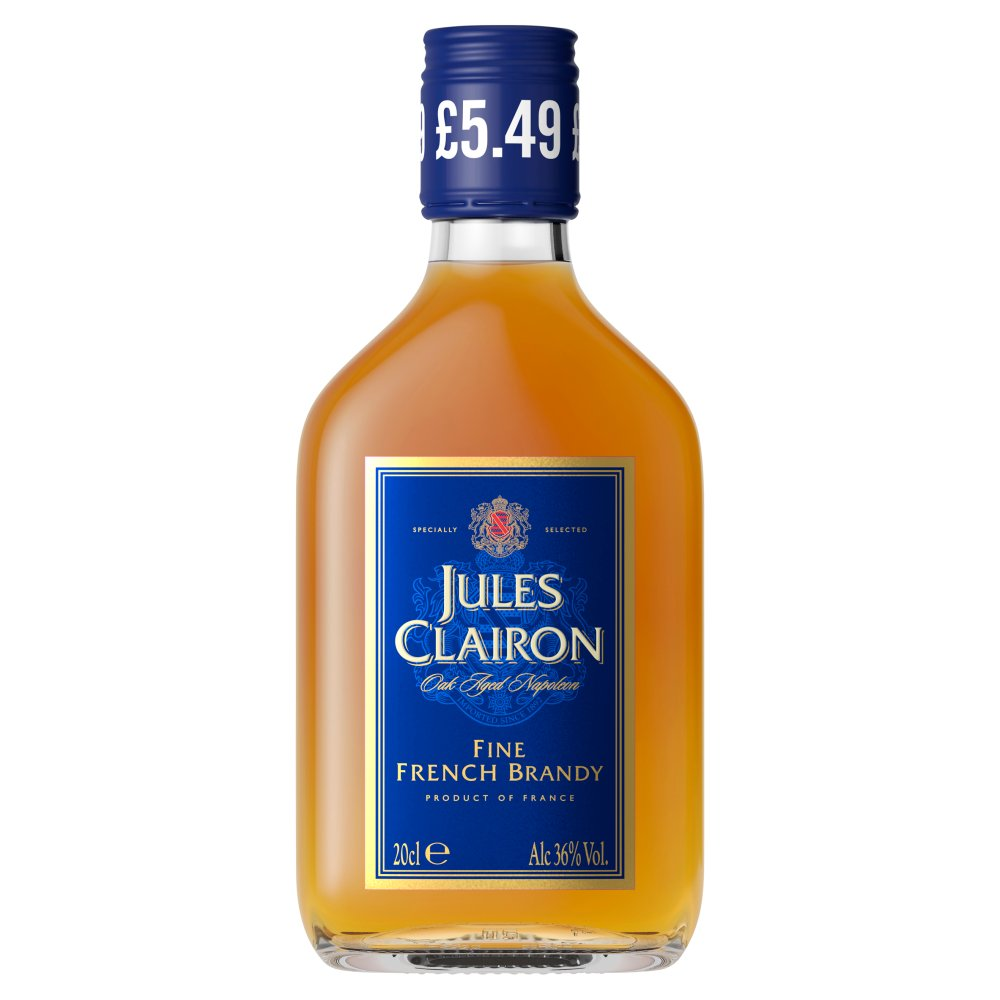 Jules Clairon Oak Aged Napoleon Fine French Brandy 20cl PMP £4.99
