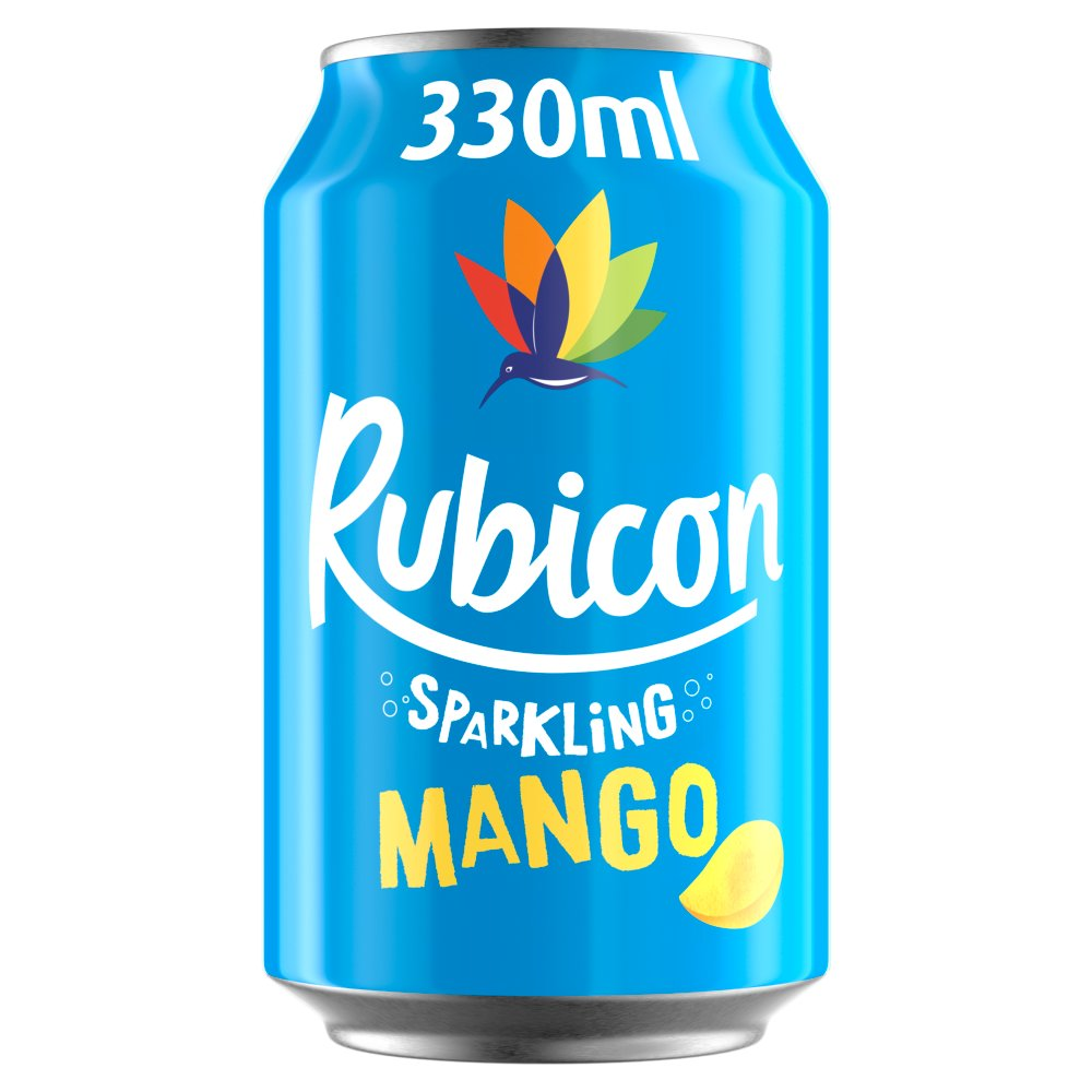 Rubicon Sparkling Mango Juice Drink 330ml Cans