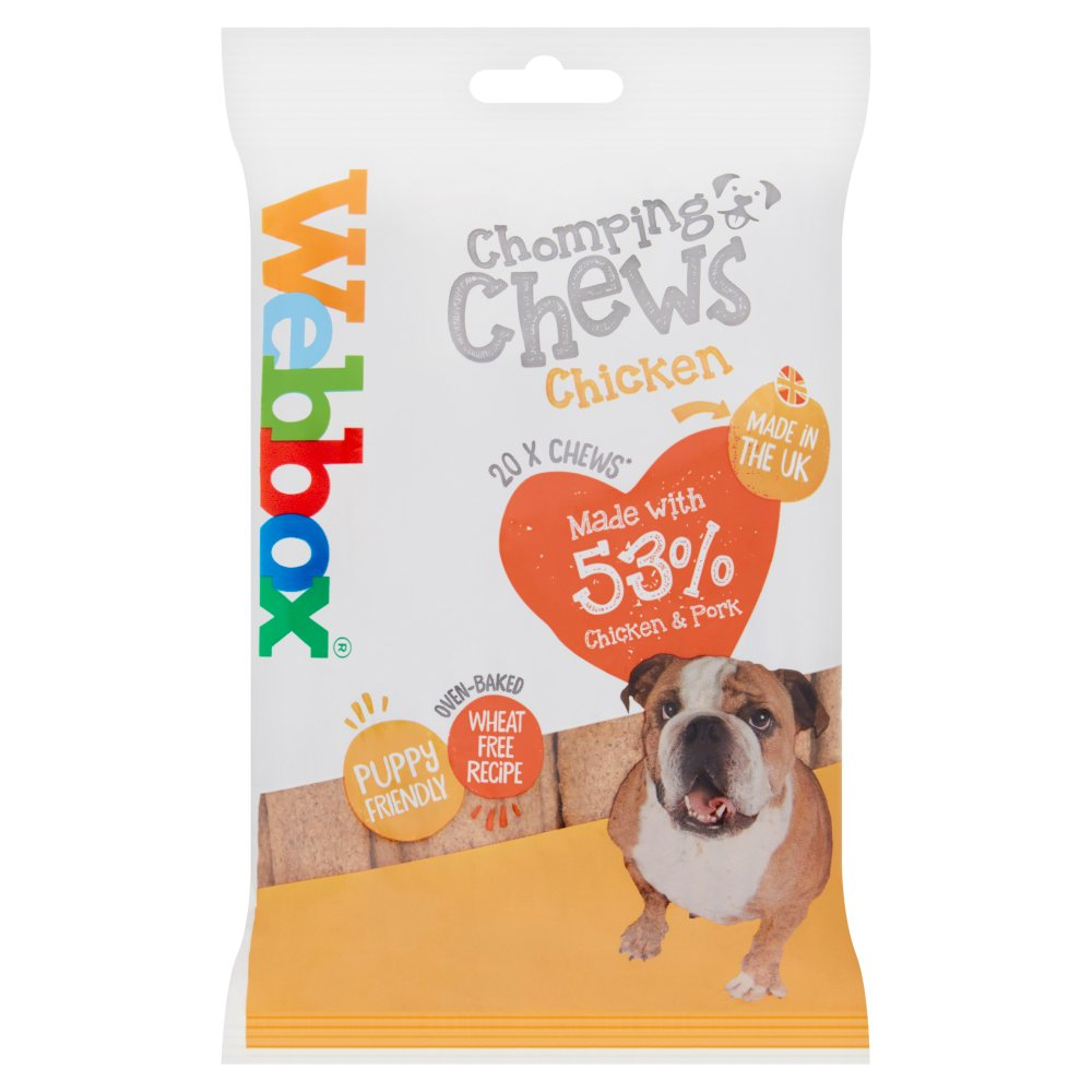 Webbox 20 Chomping Chews with Chicken 200g