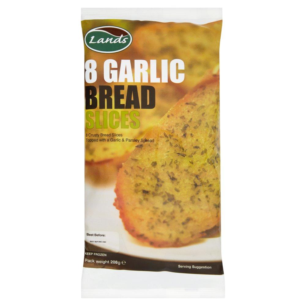 Lands 8 Garlic Bread Slices 208g