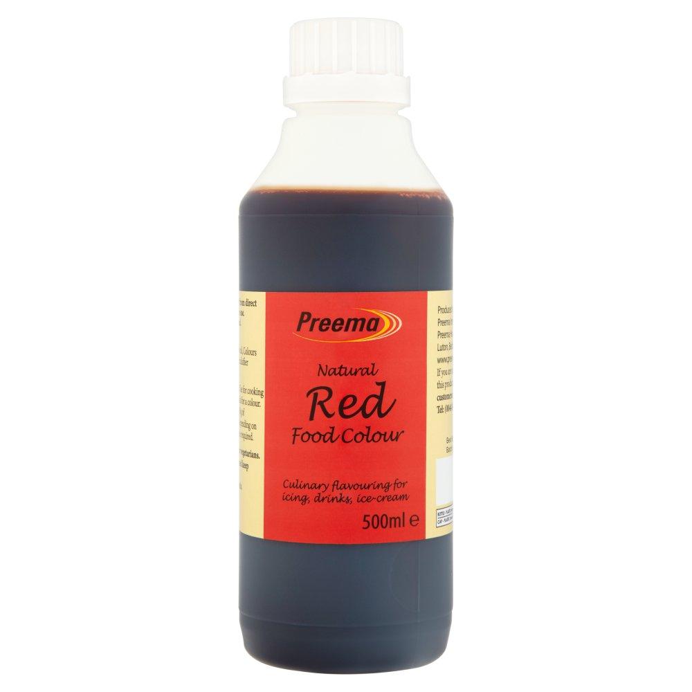 Preema Natural Red Food Colour 500ml :: Bestway Wholesale