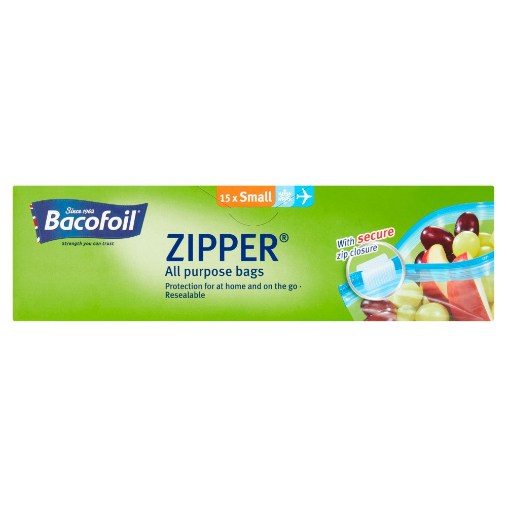 Bacofoil Zipper® All Purpose Bags 15 x Small
