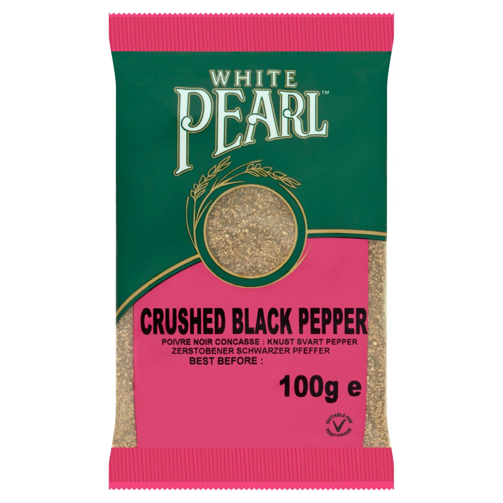 White Pearl Black Pepper Crushed