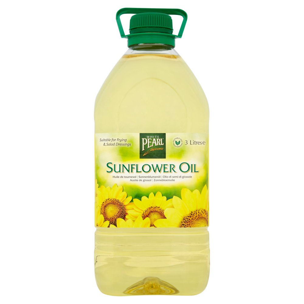 White Pearl Sunflower Oil 3 Litres Bestway Wholesale