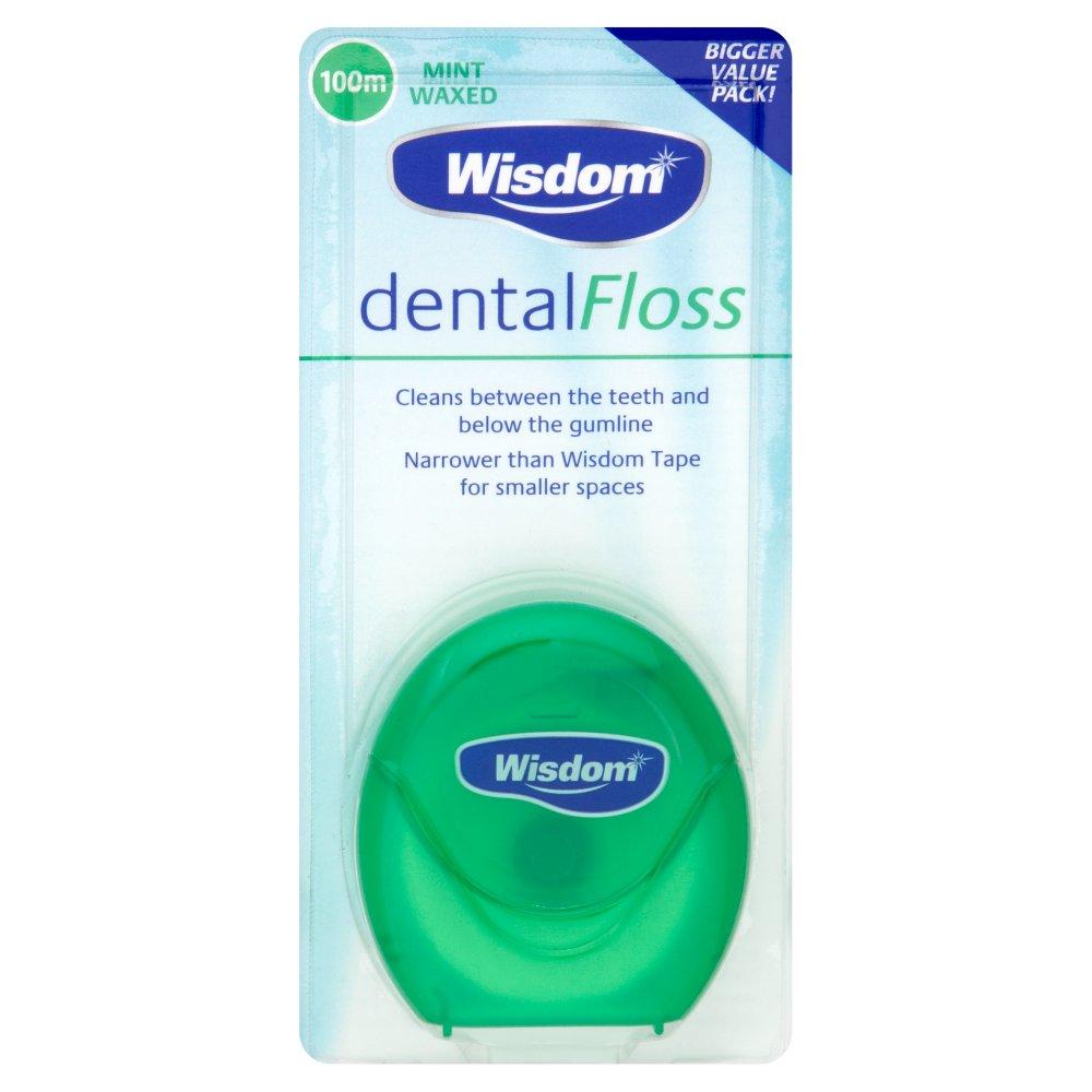 Wisdom Dental Floss Mint Waxed 100m