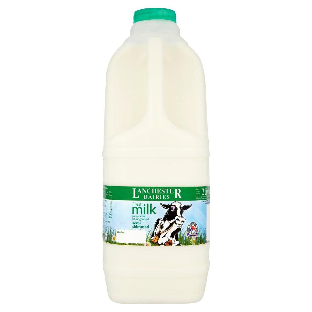 Lanchester Dairies Fresh Milk Semi Skimmed 2 Litres