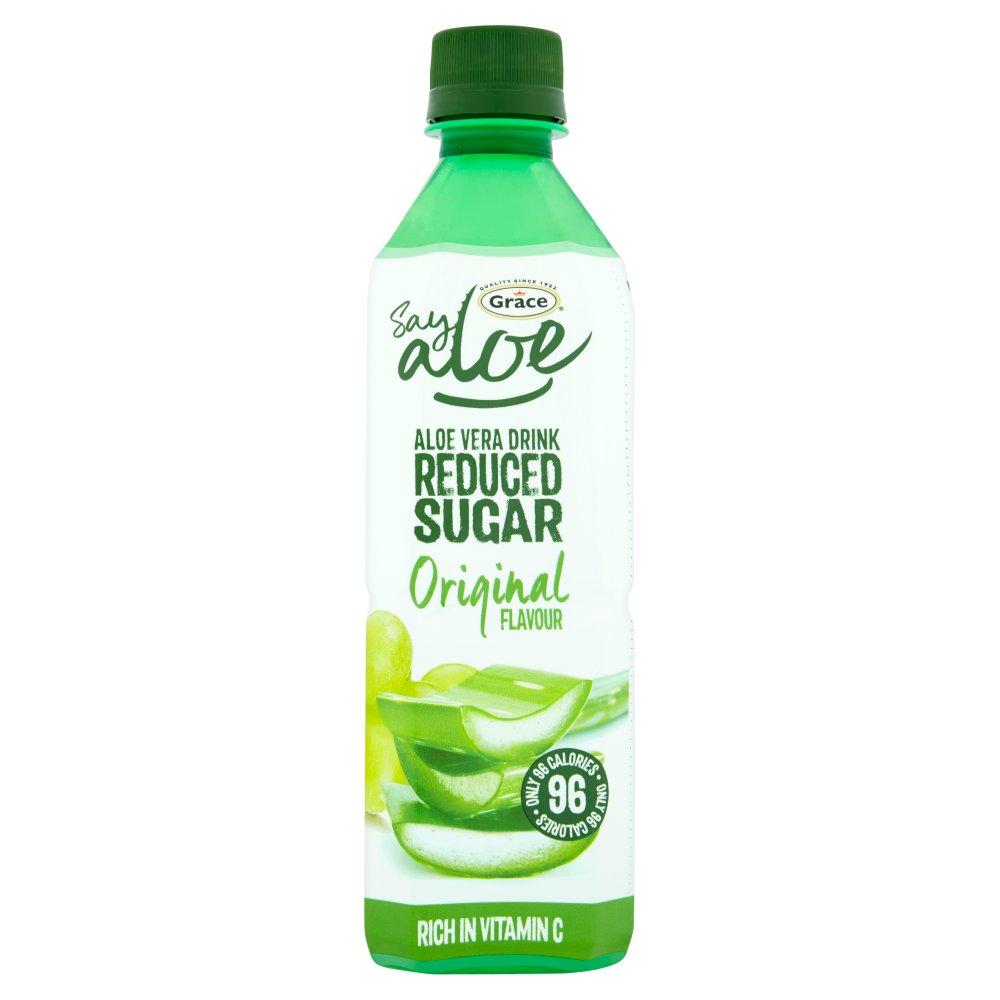 Grace Say Aloe Reduced Sugar Drink Original Flavour 500ml