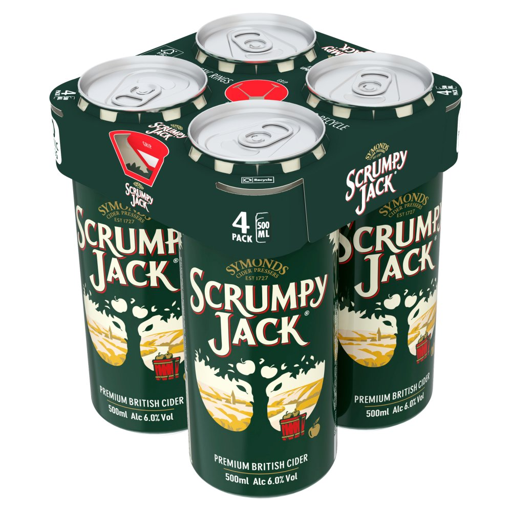 Symonds Scrumpy Jack Premium British Cider Can 4 x 500ml
