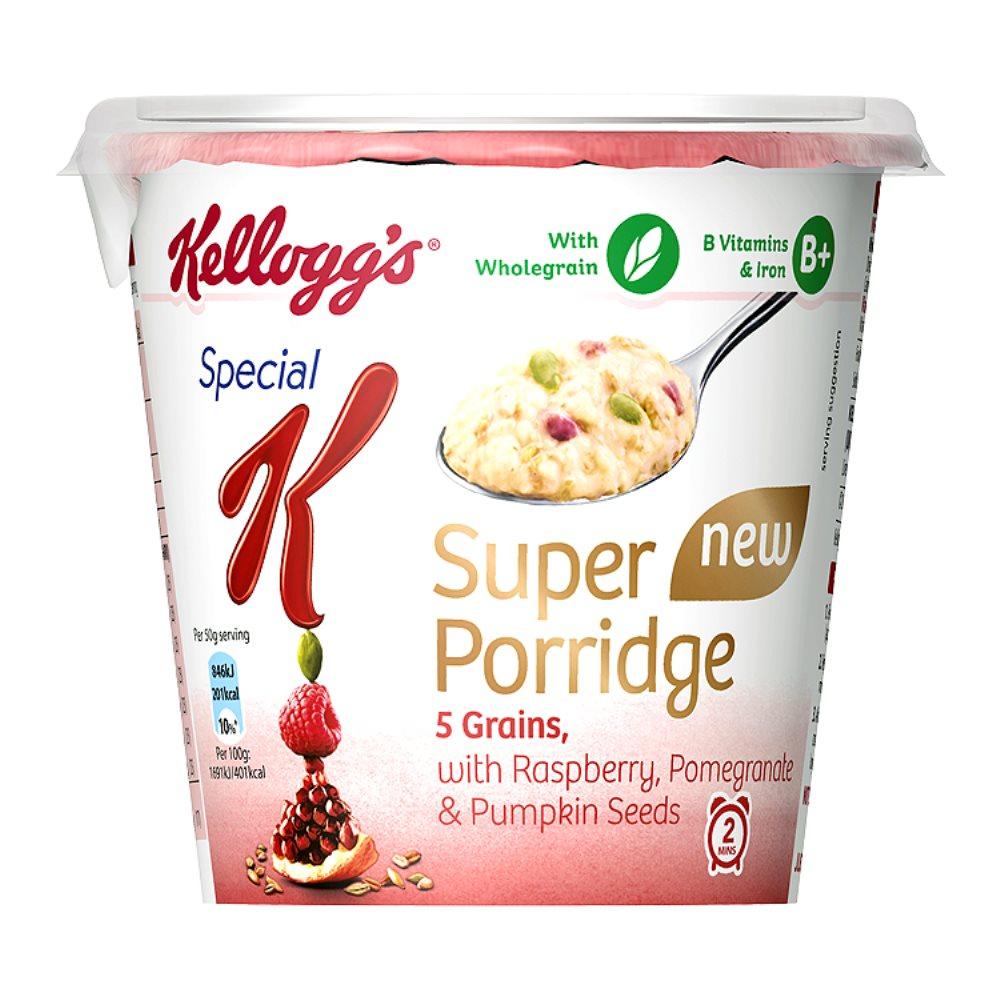Kellogg's Special K Super Porridge 5 Grains with Raspberry, Pomegranate & Pumpkin Seeds