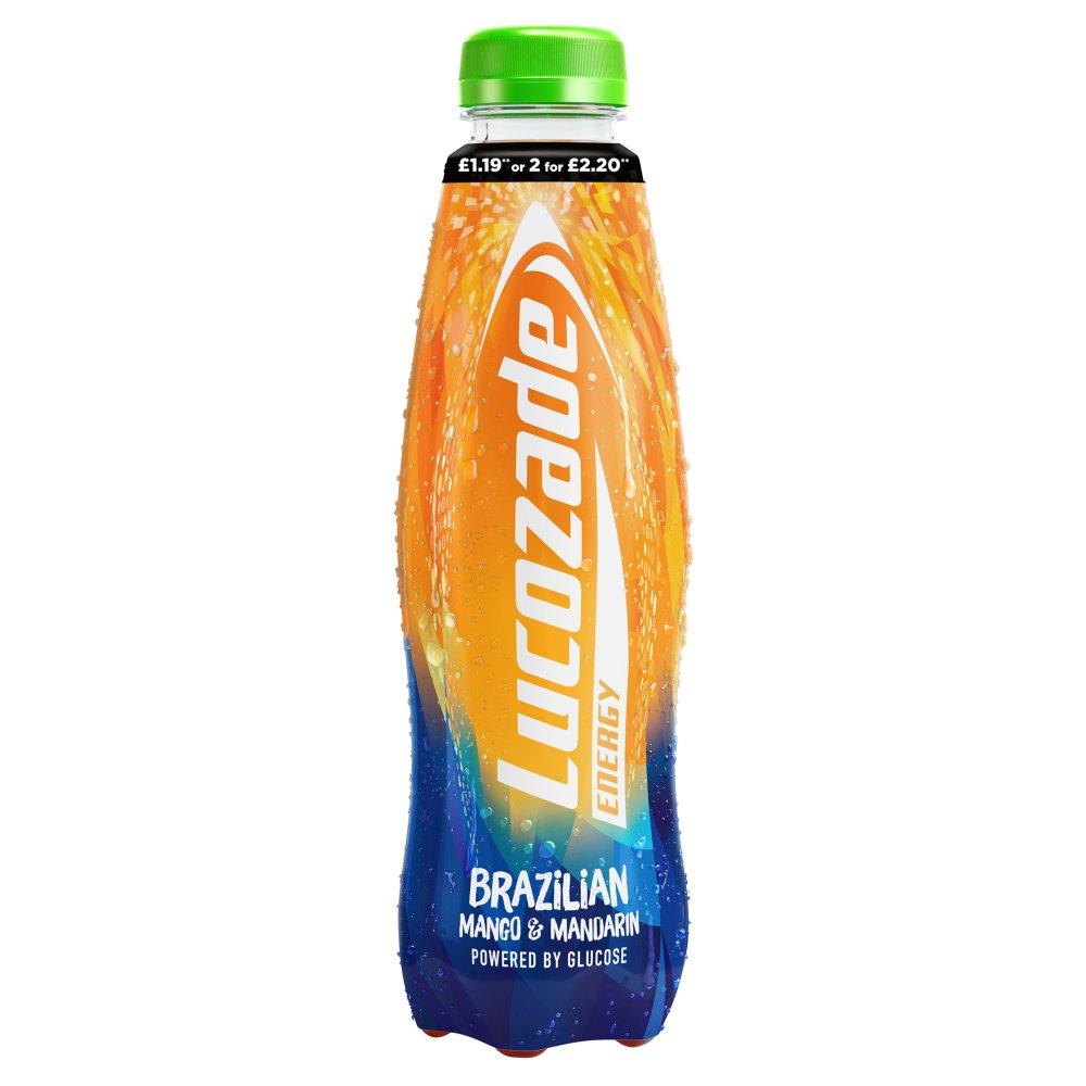 Lucozade Energy Bold Brazilian 380ml PMP £1.19 or 2 for £2.20