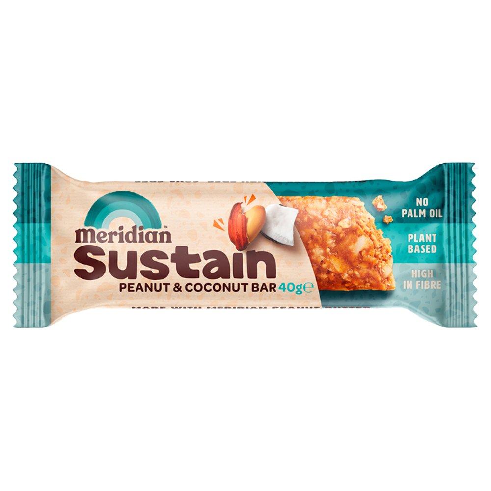 Meridian Sustain Peanut and Coconut Bar 40g