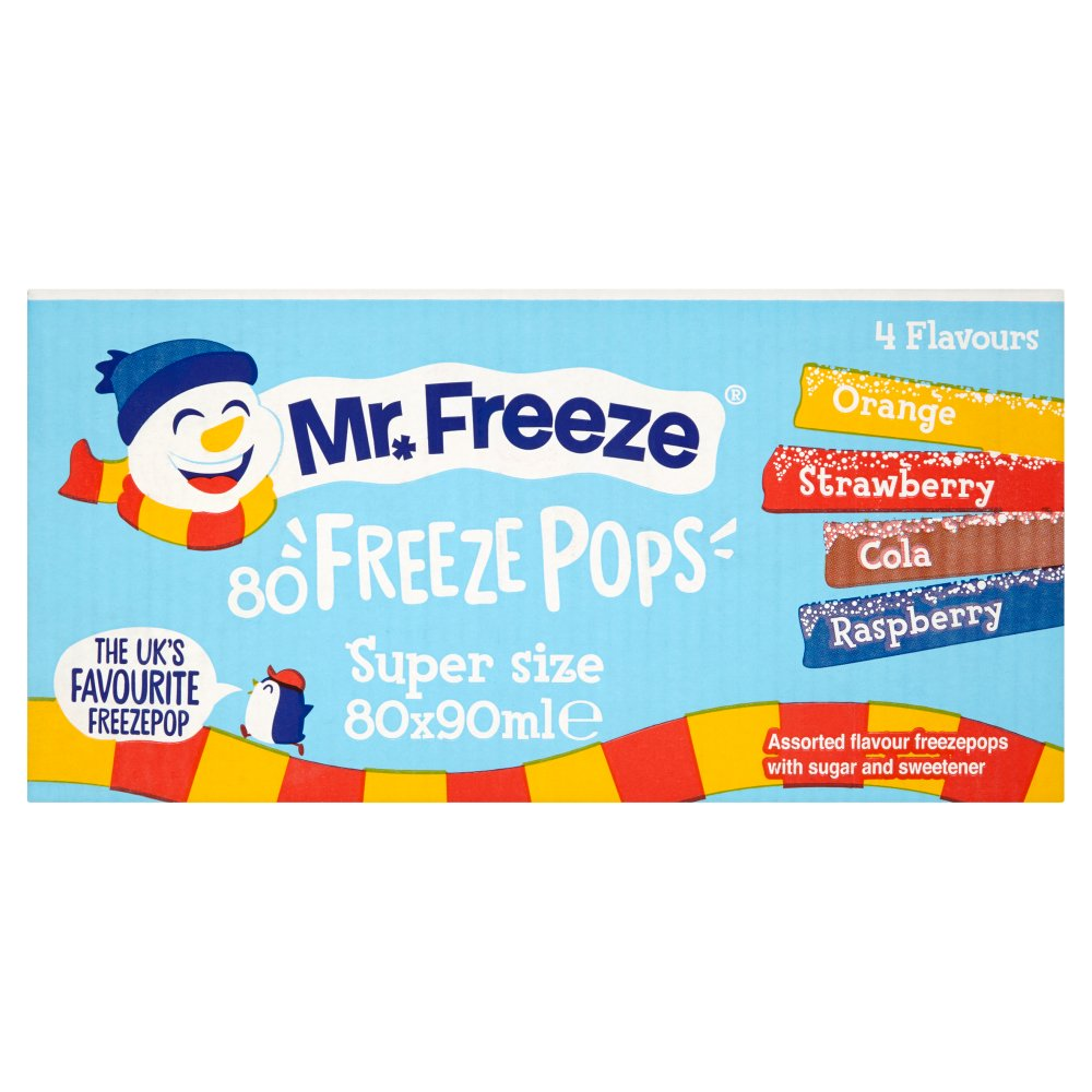 Mr. Freeze Freeze Pops Super Size 80 x 90ml