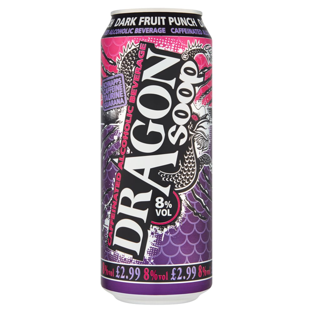 Dragon Soop Dark Fruit Punch Caffeinated Alcoholic Beverage 500ml