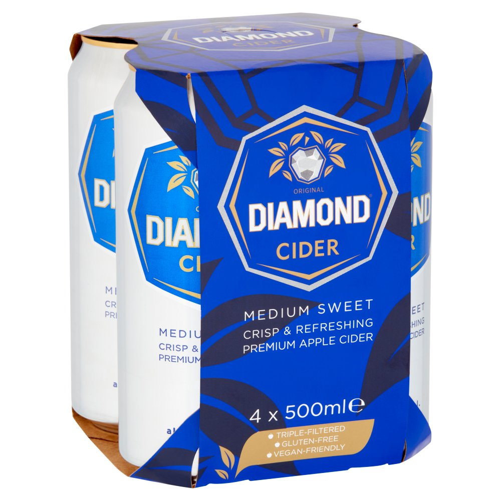 Diamond White Original Cider 4 x 500ml