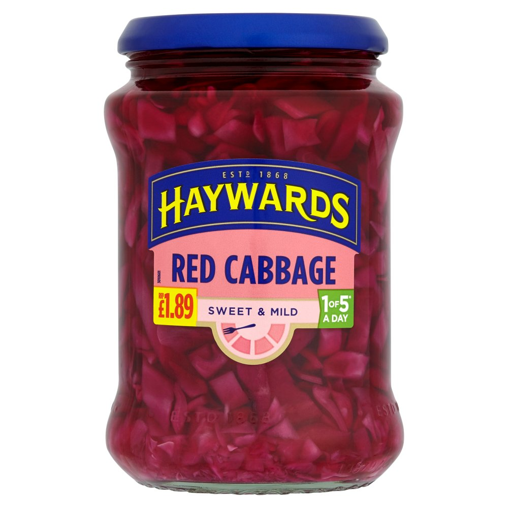 Haywards Medium & Tangy Red Cabbage PM £1.89