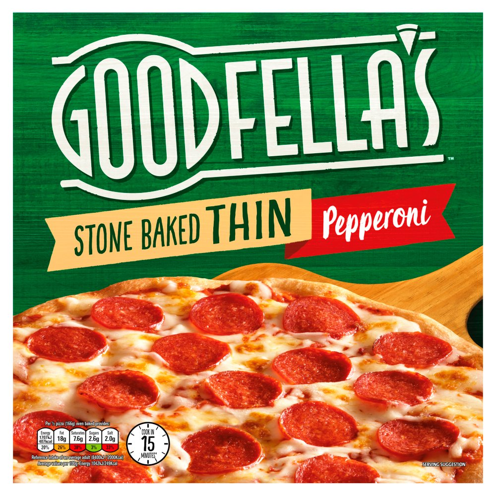 Goodfella's Stone Baked Thin Pepperoni 332g