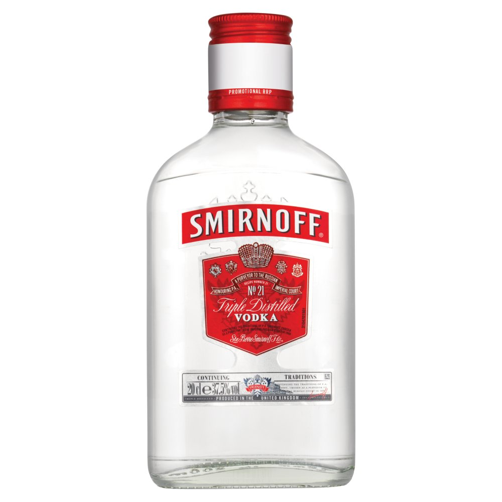 Smirnoff Vodka 20cl PMP £4.79