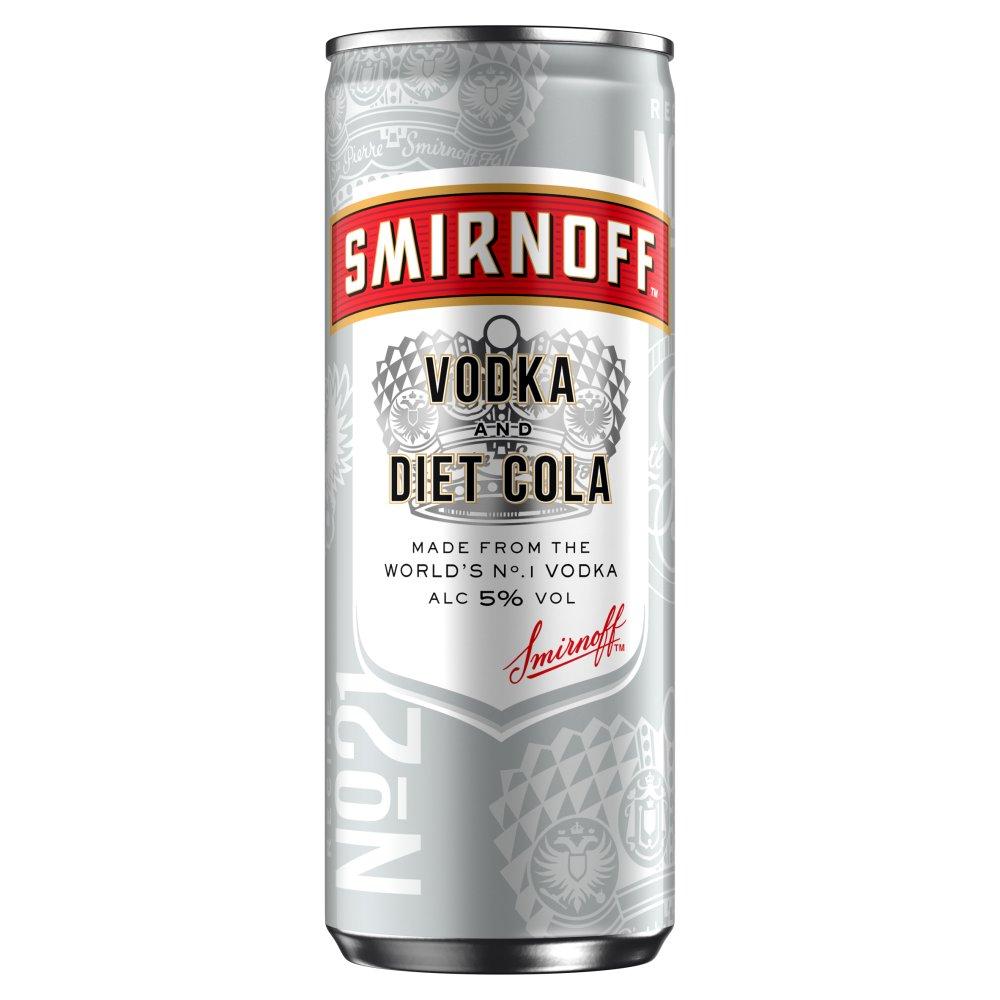 Smirnoff Red Label Vodka and Diet Cola 250ml