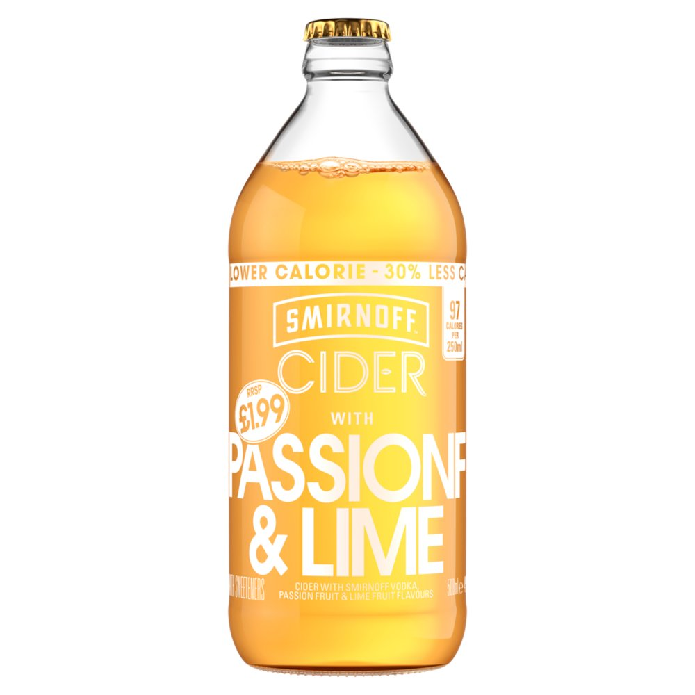 Smirnoff Cider Passion Fruit & Lime £1.99