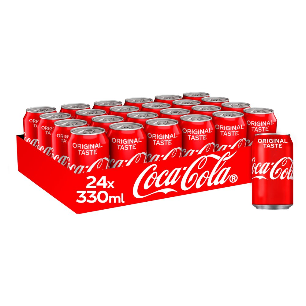 Coca-Cola Original Taste Non-Barcoded Multipack Cans 24 x 330ml