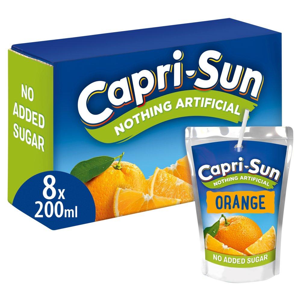 Capri-Sun Nothing Artificial No Added Sugar Orange 8 x 200ml