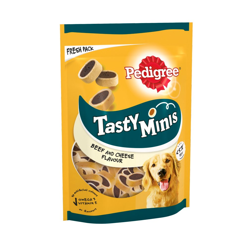 Pedigree Tasty Bites Adult 1+ Dog Treats with Cheese 140g