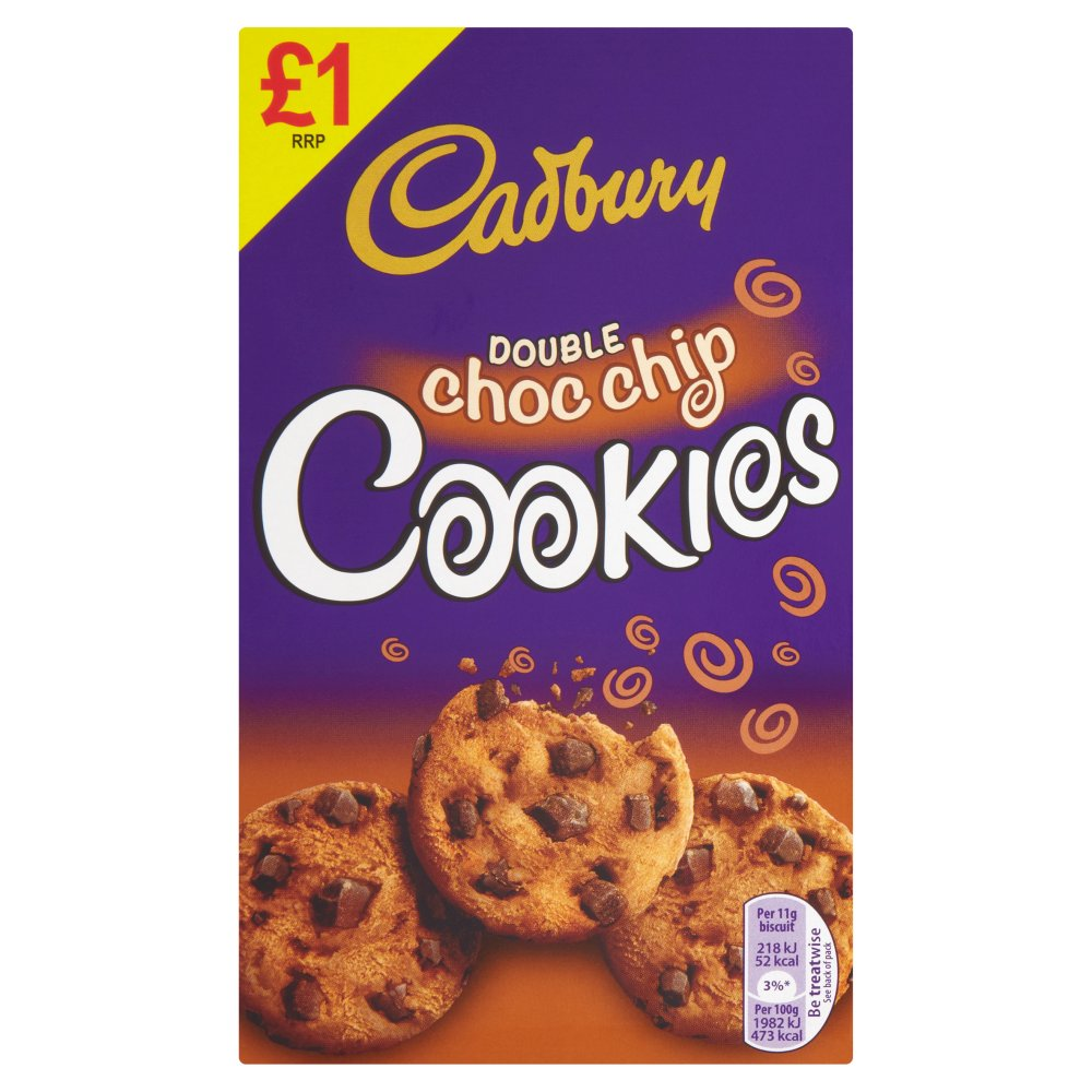 Cadburys Double Chocolate Chip Cookies PM £1