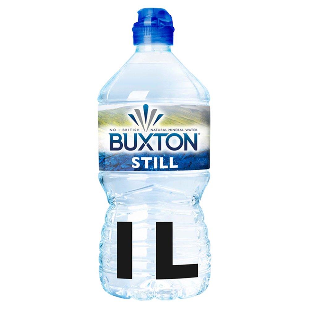 Buxton Still Natural Mineral Water Sports Cap 1L