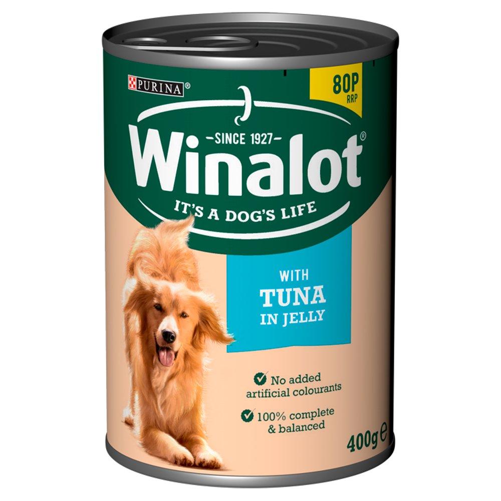 WINALOT Classics Tinned Dog Food with Tuna in Jelly 400g