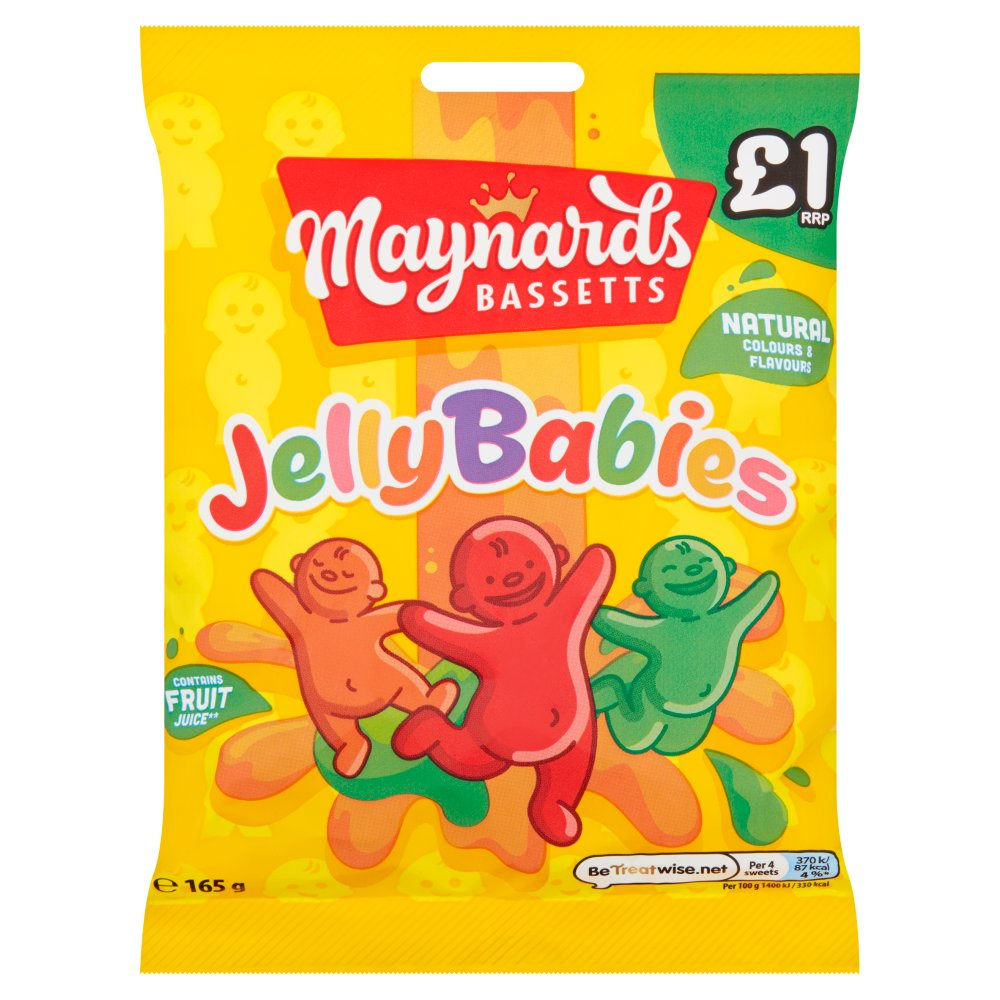Bassetts Jelly Babies £1 165g