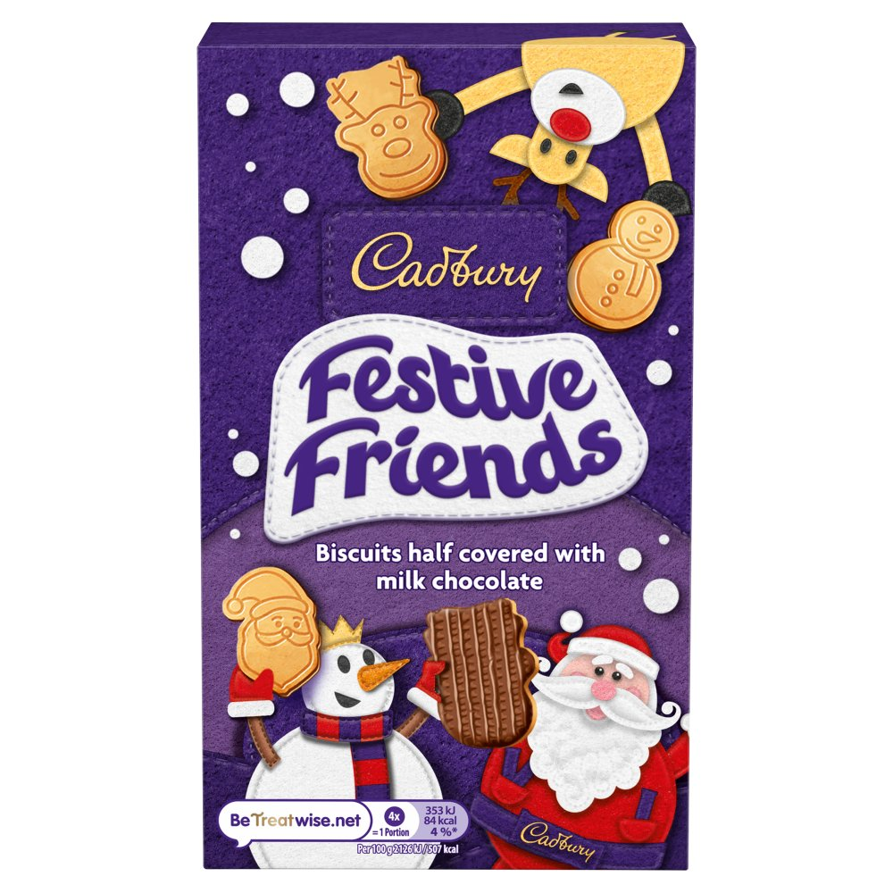Cadbury Festive Friends Chocolate Biscuits 150g