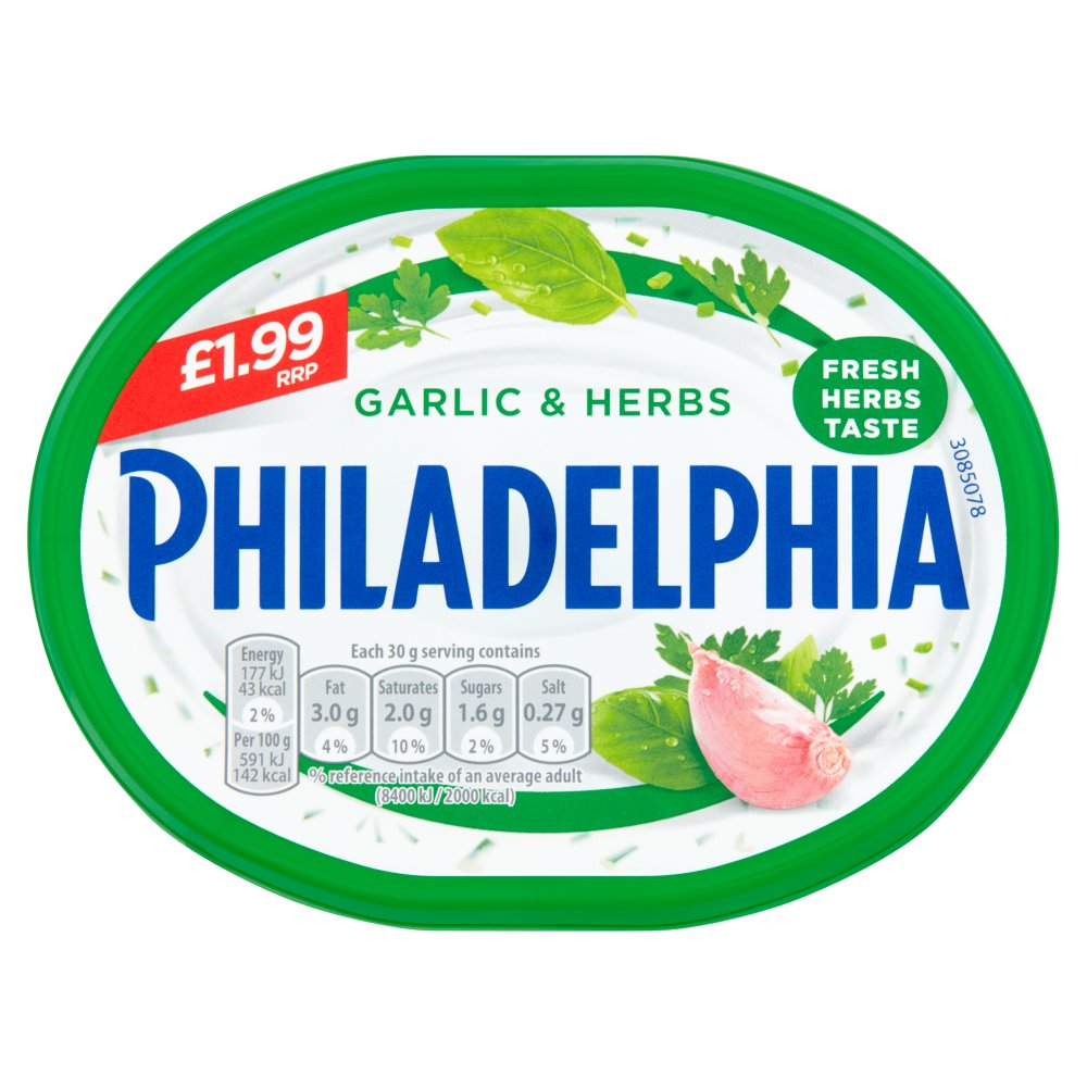 Philadelphia Garlic & Herbs Soft Cheese £1.99 170g