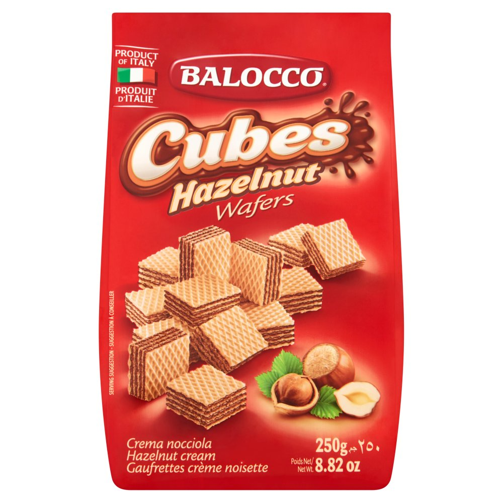 Balocco Cubes Hazelnut Wafers 250g