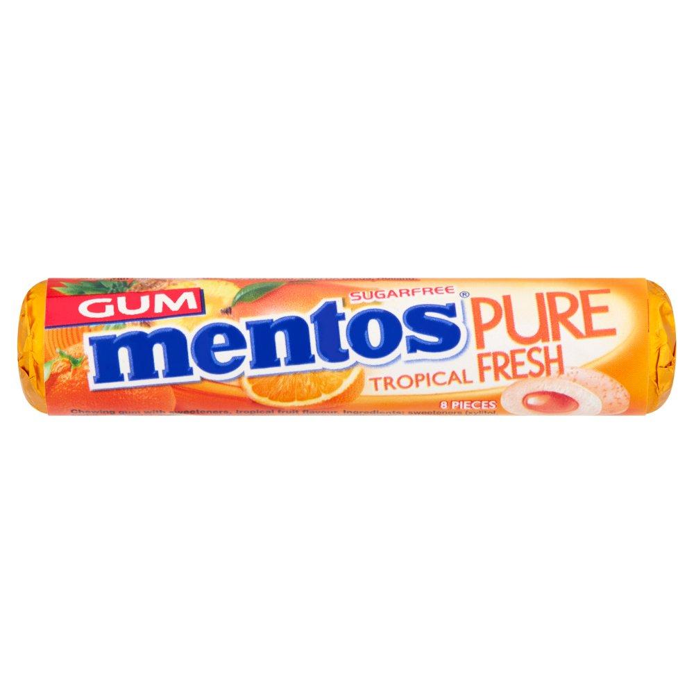 Mentos Gum Pure Fresh Tropical 8 Pieces 15g