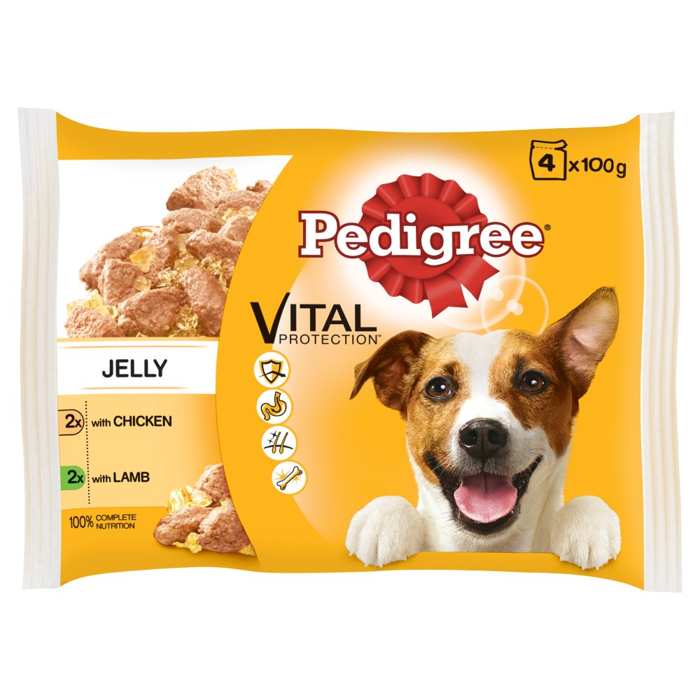 Pedigree Pouch Jelly Chicken & Lamb 4pack