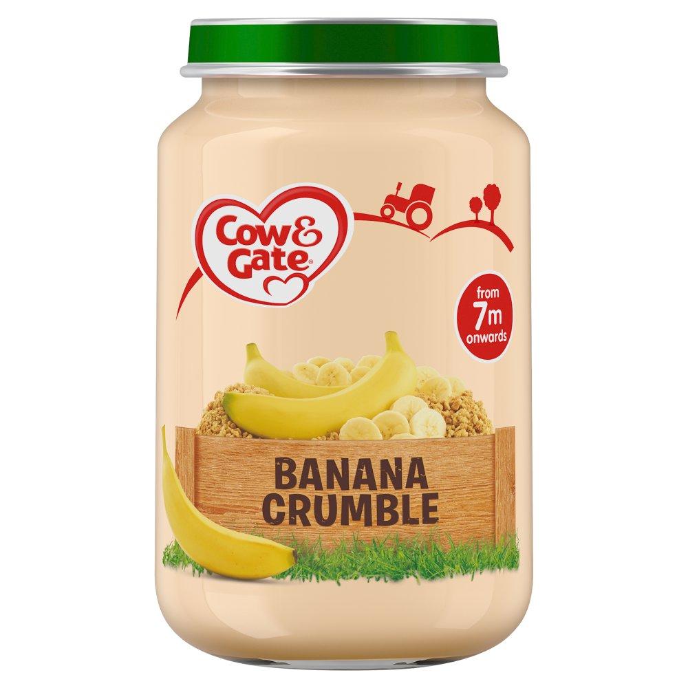 Cow & Gate Banana Crumble Jar 200g