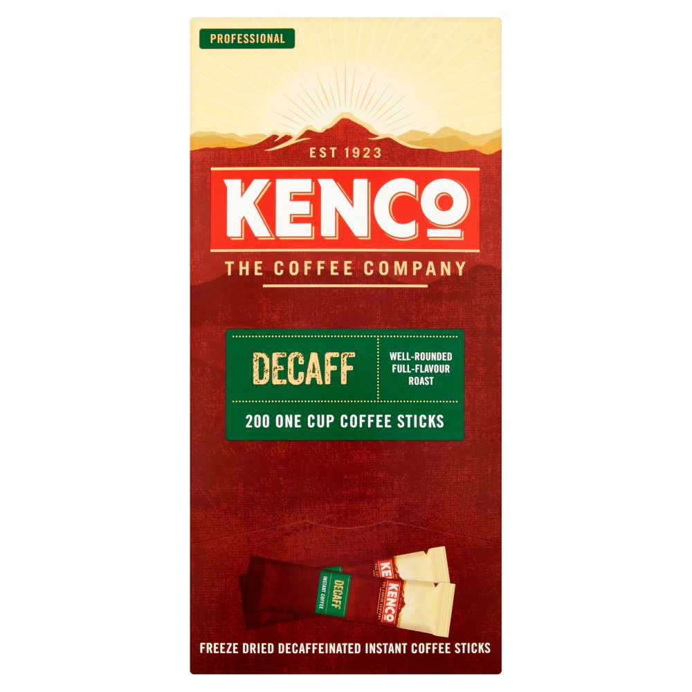 Kenco Decaf Instant Coffee Stickpacks x200