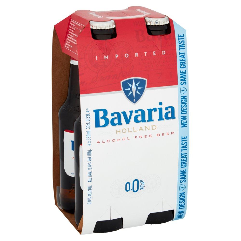Bavaria 0.0% Original Alcohol Free Beer 4 x 330ml