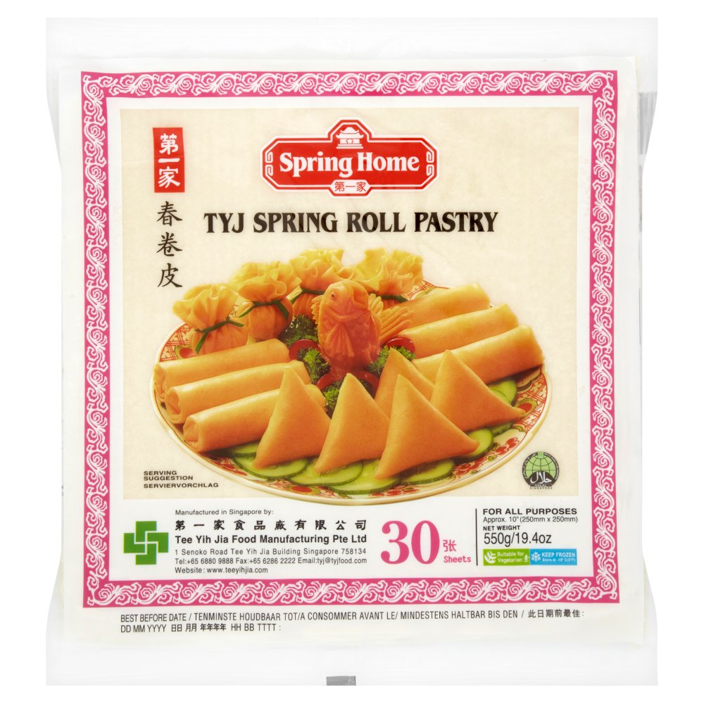 spring home tyj spring roll pastry 30 sheets 550g